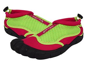 Fuchsia Green Kids Girls Athletic Water Shoes Pool Beach Aqua Socks