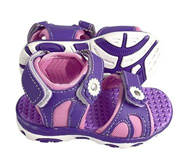 Peach Couture Kids Toddler Open Toe Beach Water Shoes Athletic Sports Sandals Purple