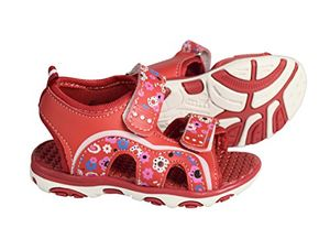 Red Toddler Open Toe Beach Water Shoes Athletic Sports Sandals