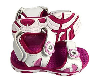 Peach Couture Kids Toddler Open Toe Beach Water Shoes Athletic Sports Sandals White, 7