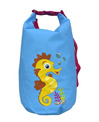 Kids Waterproof Dry Pack Bag-Roll Top Dry Compression Sack Keeps Gear Dry for Kayaking, Beach, Rafting, Boating, Hiking, Camping and Fishing