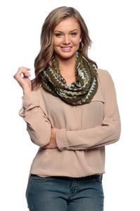 Knitted Chevron Multicolor Zigzag Infinity Loop Scarf Many Colors (One Size)