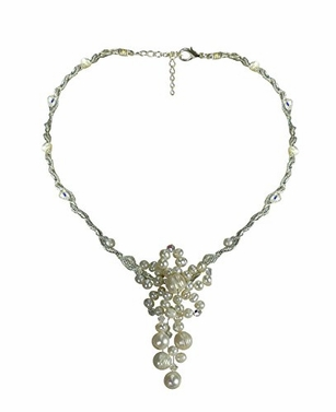 Pearl Explosion 925 Sterling Silver Women's Stunning Necklace