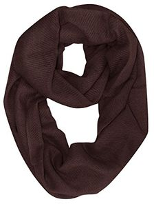 Peach Couture Light and Soft Luxurious Cashmere Wool Infinity Loop Wrap Scarf (Chocolate Brown)