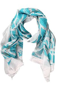 Light Weight Cotton Blend Nautical Print Summer Shawls