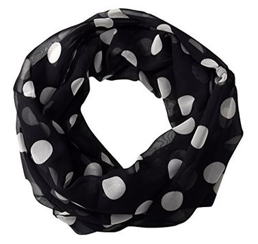 Sheer Speckled Polka Dot Circle Print Infinity Loop Scarves