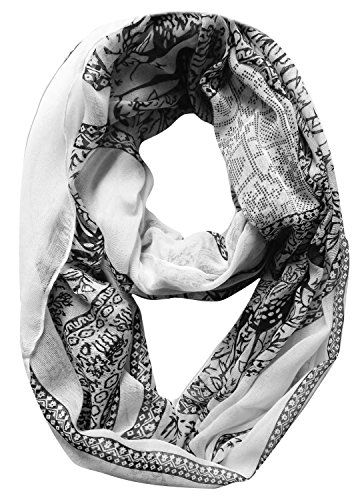 Deer Print Animal Print Nature Design Infinity Loop Scarf Wrap Scarf