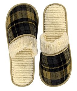 Peach Couture Mens Fleece Lined Relaxing Nordic Style House Slippers