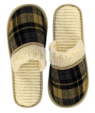 Mens Fleece Lined Relaxing Nordic Style House Slippers