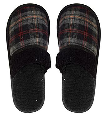 Mens Fleece Lined Relaxing Nordic Style House Slippers Small