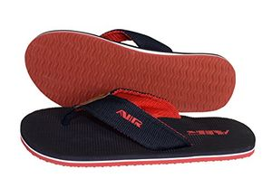 Black Red Mens Flip Flop Synthetic Suede Stappy Beach Flats Sandals 12