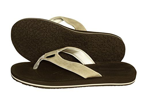 Dark Brown Tan Mens Flip Flop Synthetic Suede Stappy Beach Flats Sandals 11