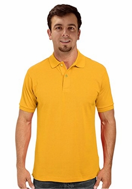 Yellow Men's Short Sleeve Classic Pique Polo Shirt XX-Large