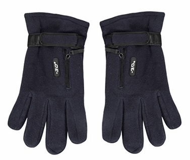 Navy Weatherproof Fleece Insulated Winter Snow Ski Gloves 79