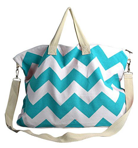 Messenger Cross Body Chevron Canvas Weekender Travel Luggage Bag