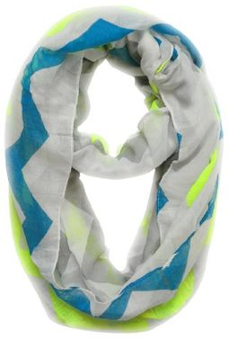 Modern Radiant Multicolored Chevron Geometric Infinity Loop Scarf
