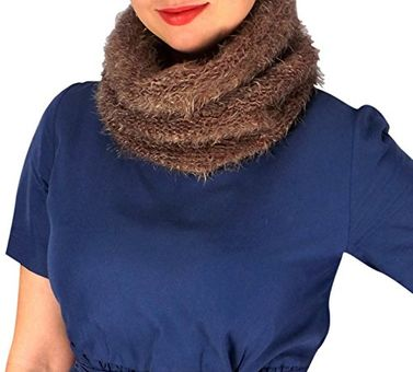 Multi Color Marled Knit Cowl Neck Scarf Cozy Neck Warmer
