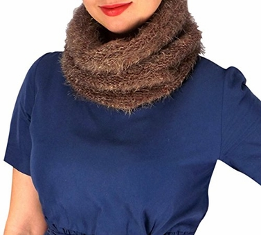 Peach Couture Multi Color Marled Knit Cowl Neck Scarf Cozy Neck Warmer