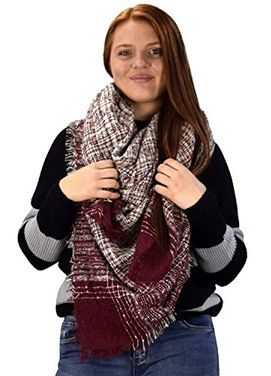 Multicolor Marled Oversized Blanket Scarf Shawl Wrap Poncho