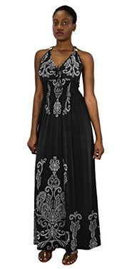 Paisley Floral Animal Print Exotic V Neck Cocktail Plus Sized Maxi Dress