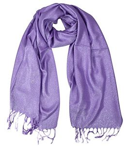 Princess Shimmer Scarf Pashmina Shawl with Fringes