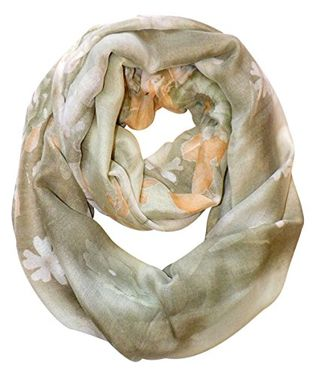 Retro Colorful Faded Hawaiian Hibiscus Flower Infinity Loop Scarf (Multi Color)