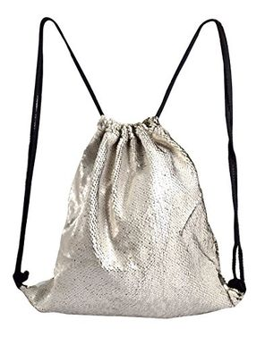 Reversible Glitters Sequin Drawstring Fashionable Sports Dance Bag