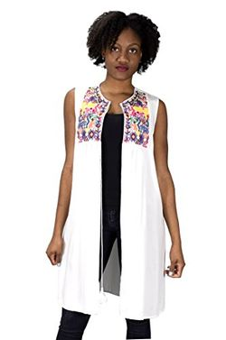 Sheer Lightweight Summer Beach Cover up Kimono Embroidered Cardigan