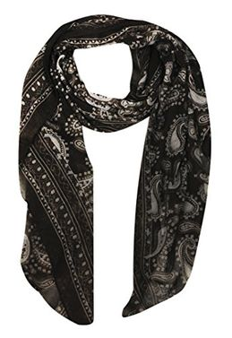 Peach Couture Simple & Classic Lightweight Paisley Design Scarf