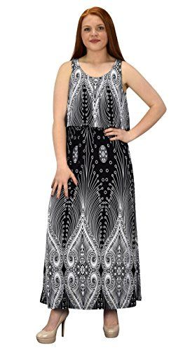 Black Sleeveless Bohemian Print Scoop Neck Overlay Cocktail Maxi Dress