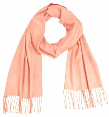 Baby Pink Cashmere Feel Light Unisex Scarf