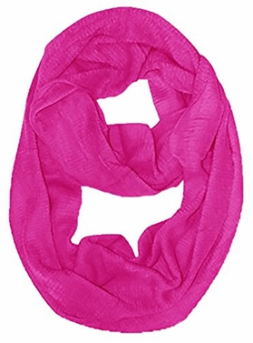 Fuchsia Soft and Warm Women's Solid Color Infinity Loop Neck Scarf / Wrap Snood