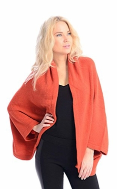 Orange Soft Versatile Knit Sleeve Wrap Around Shawl Scarf