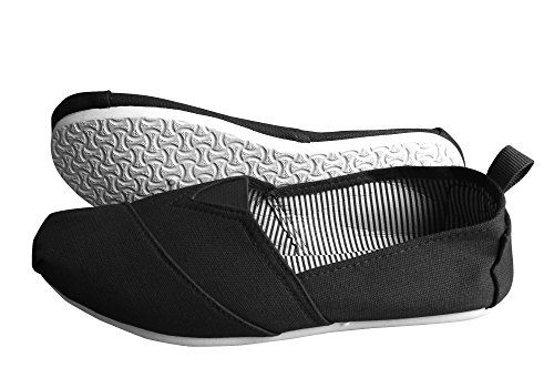 Black Striped Casual Summer Breathable Tennis Slip on Loafer Sneaker Shoes