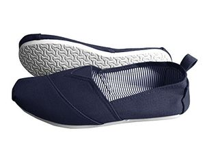 Blue Striped Casual Summer Breathable Tennis Slip On Loafer Sneaker Shoes