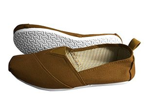 Brown Striped Casual Summer Breathable Tennis Slip on Loafer Sneaker Shoes