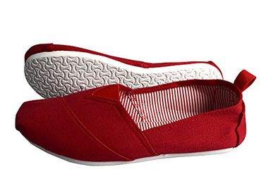Red Striped Casual Summer Breathable Tennis Slip on Loafer Sneaker Shoes
