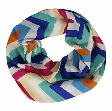 Summer Colorful Chevron Infinity Loop Skinny Scarves