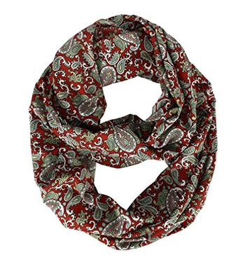 Summer Fashion Graphic Bohemian Paisley Infinity Scarf