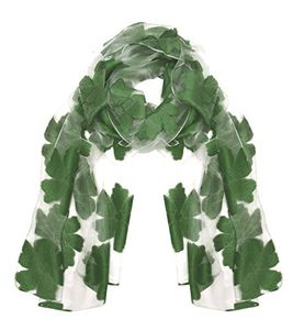 Summer Fashion Lightweight Floral Embroidered Burnout Scarf