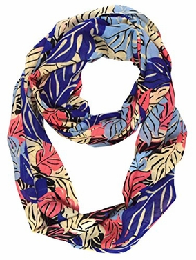 Multi Color Summer Fashion Womens Bohemian Design Sheer Infinity Scarves