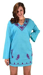 Summer Womens Cotton Bikini Cover-up Swimwear Beachwear Tunic Large/ X-Large