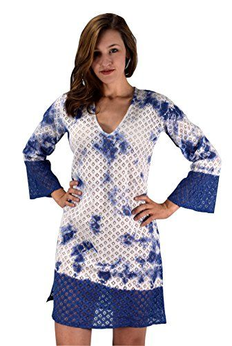 Blue Summer Womens Lace Beach Bikini Cover-up Swimwear Beachwear Tunic