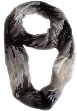 Trendy Abstract Multicolored Paint Design Infinity Loop Scarf/wrap
