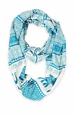 9b5edad24f659 Teal Tribal Trendy Animal Print Artsy Wrap Scarf Shawl