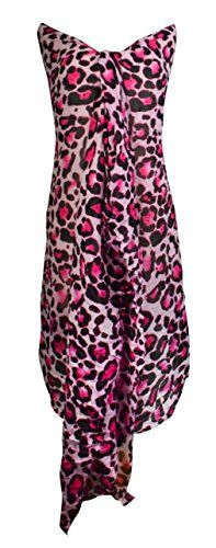 Multi-Color Trendy Women's Leopard Animal Print Crinkle Scarf wrap