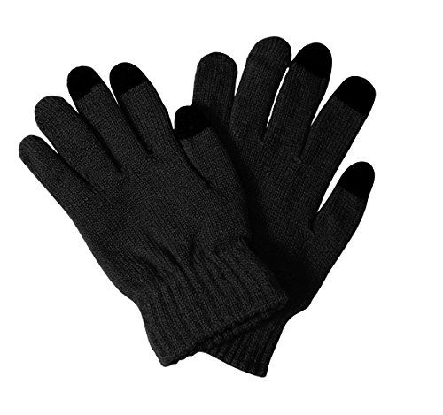 Black Unisex Winter Android Iphone Smartphone Gloves