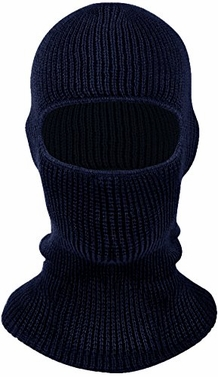 Navy Unisex Thick Knit One Hole Facemask Balaclava Snowboarding Mask