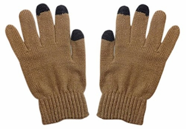 Unisex Warm Knitted Texting Gloves for Iphone Android Smart phones Touch screens Beige