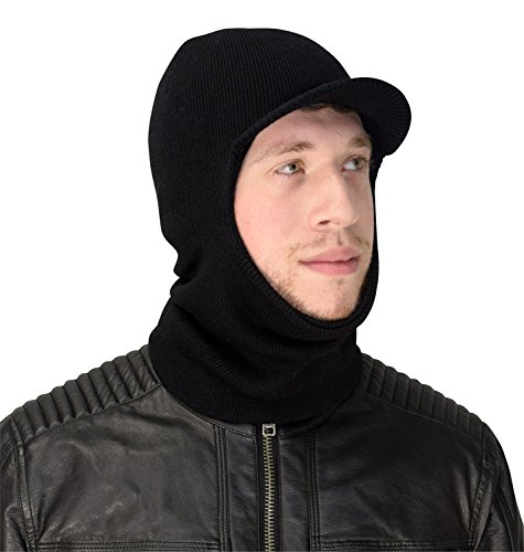 cfb020e7ed8 Black Unisex Warm One Hole Balaclava Visor Ski Mask Shield Hat Headwear